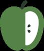 Icon of half apple