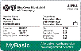 Limited benefits products member cards
