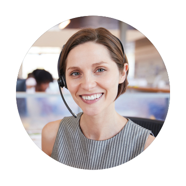 Image of woman talking on a headset