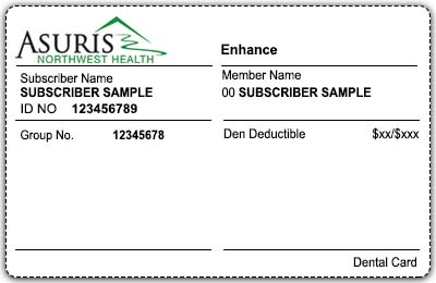 Voluntary dental products sample card front