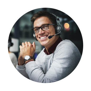 Image of smiling man with headset on