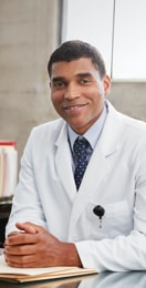 Image medical professional in lab coat